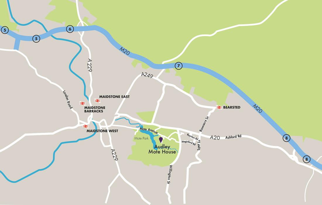 Audley Retirement Villages Map