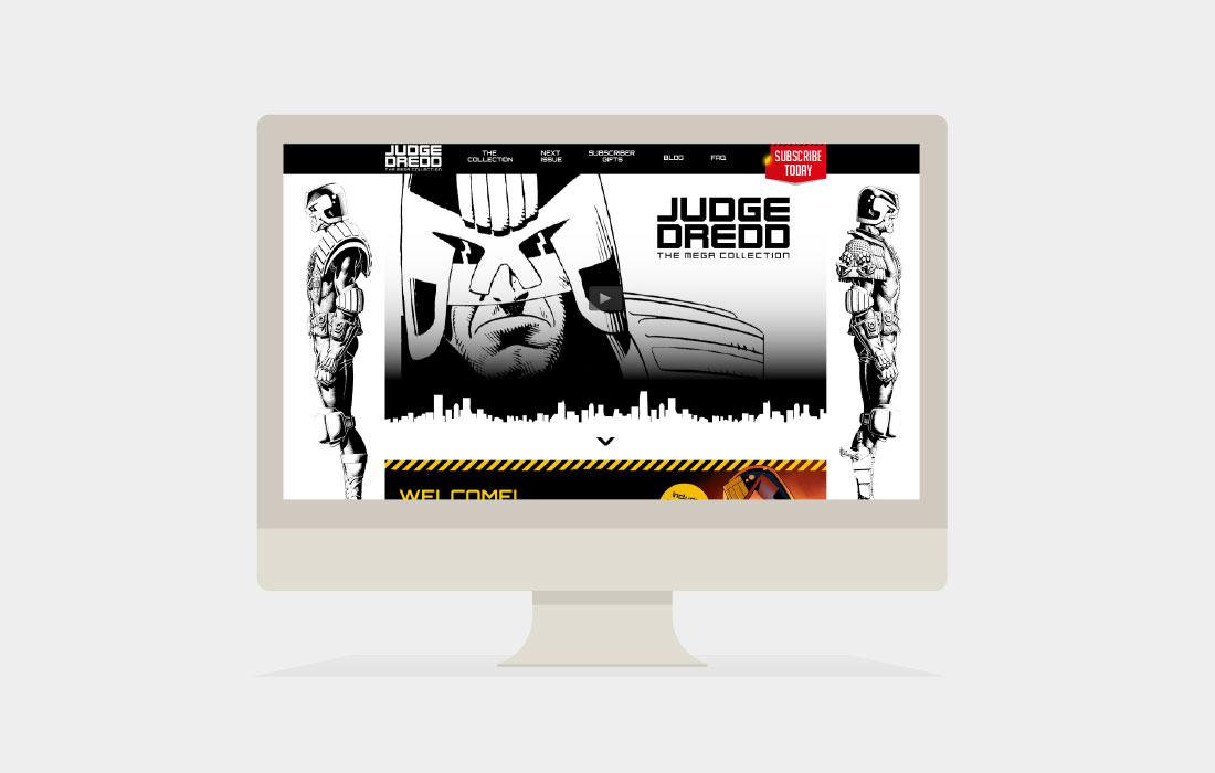 Hachette Partworks Judge Dredd Website