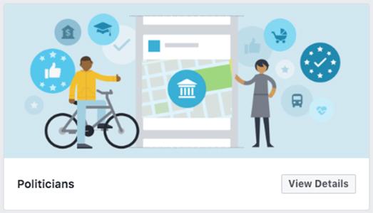 Politicians Facebook template