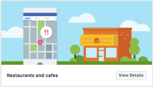Restaurants and Cafes Facebook template