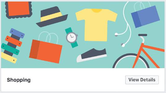 Shopping Facebook template