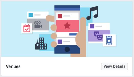 Venues Facebook template