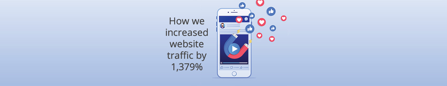 How we used Facebook Instant Experience ads to increase website traffic by 1,379%